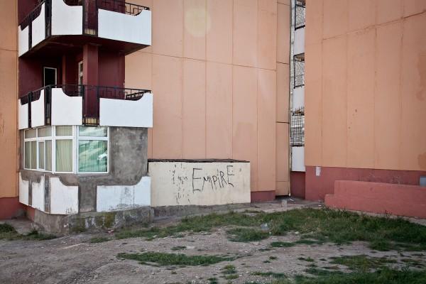 Empire: graffiti on a housing block, Erdenet, Mongolia