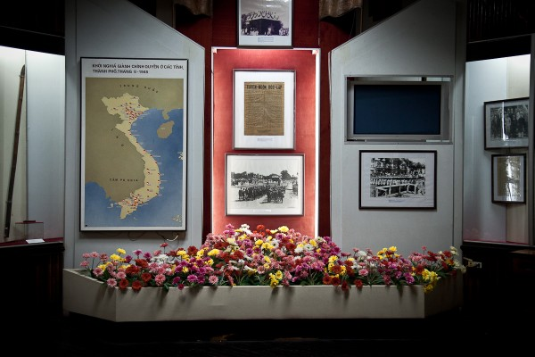 Museum of the Revolution - A display depicting military victories in the war with the United States